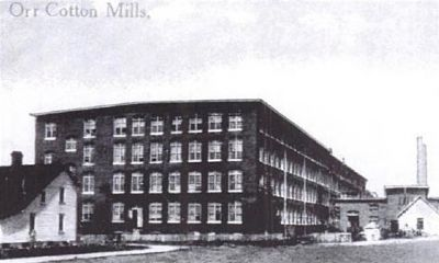 Orr Cotton Mills image. Click for full size.