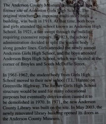 Girls High School Marker image. Click for full size.