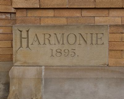 Harmonie Club Cornerstone image. Click for full size.