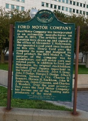 Ford Motor Company Marker image. Click for full size.