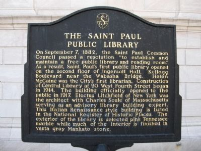 The Saint Paul Public Library Marker image. Click for full size.