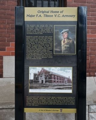 Original Home of Major F.A. Tilston V.C. Armoury Marker image. Click for full size.