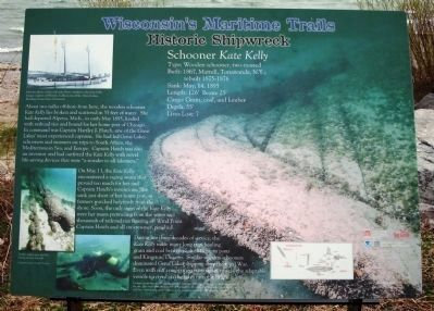 Schooner Kate Kelly Marker Photo, Click for full size