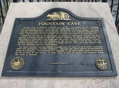 Fountain Cave Marker Photo, Click for full size