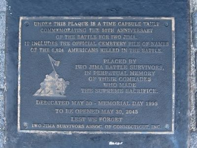Plaque at the Base of the East Side Photo, Click for full size
