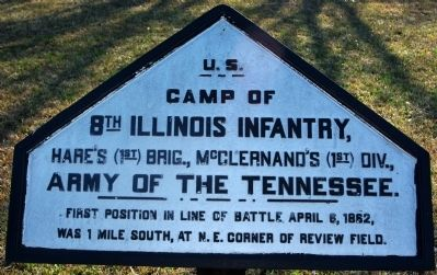 Camp of 8th Illinois Infantry Marker image. Click for full size.