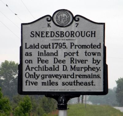 Sneedsborough Marker image. Click for full size.