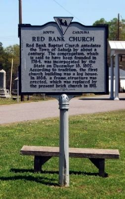 Red Bank Church Marker Photo, Click for full size