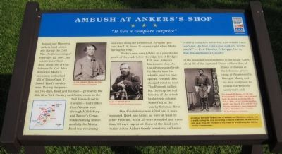 Ambush at Ankers's Shop Marker image. Click for full size.