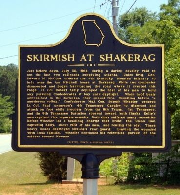 Skirmish at Shakerag Marker image. Click for full size.