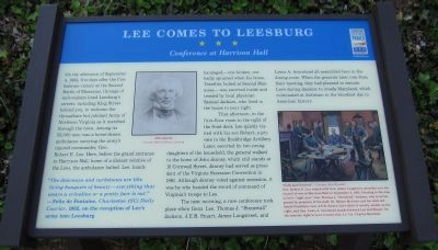 Lee Comes to Leesburg Marker Photo, Click for full size