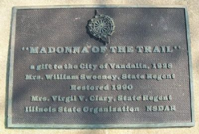 Madonna of the Trail Gift Marker image. Click for full size.