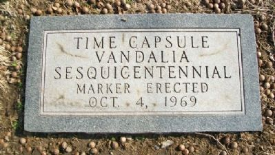 Time Capsule Near Madonna of the Trail image. Click for full size.