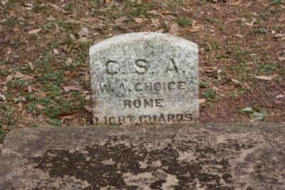 Memory Hill Cemetery, William A. Choice C.S.A. Rome Light Guards image. Click for full size.