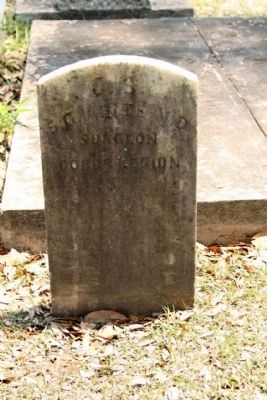 Memory Hill Cemetery, Dr. Samuel Gore White image. Click for full size.