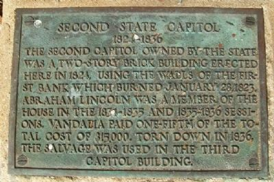 Second State Capitol Marker image. Click for full size.