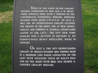 Union Second Cavalry Division Marker image. Click for full size.