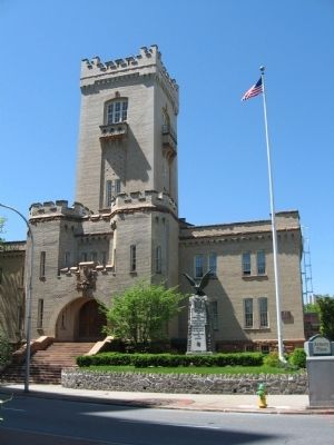 Site of the Birth of New York State Monument and the State Armory image. Click for full size.