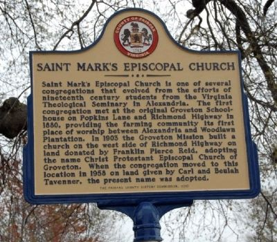 Saint Mark's Episcopal Church Marker Photo, Click for full size