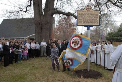 Saint Mark's Episcopal Church Historical Marker is Unveiled Photo, Click for full size