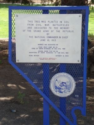 Grand Army of the Republic Memorial Tree Marker image. Click for full size.