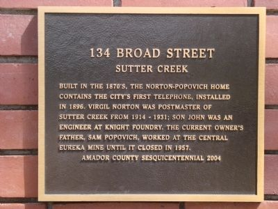 134 Broad Street Marker image. Click for full size.