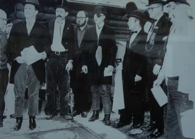 "The ""Filthy Five"" at the dedication of the Botilleas Bordellos Marker image. Click for full size."
