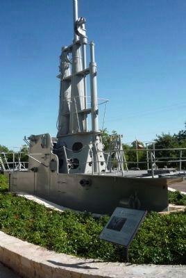 USS <i>Pintado</i> (SS-387) Memorial and Fairwater Marker image. Click for full size.