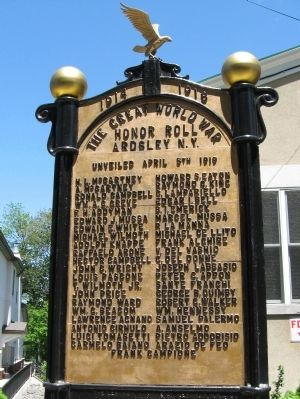 Ardsley World War I Honor Roll image. Click for full size.
