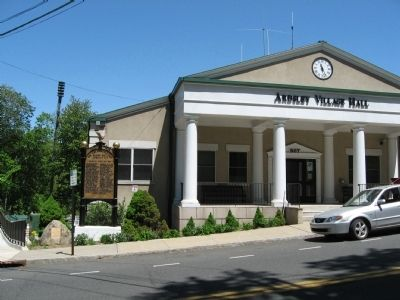 Ardsley World War I Honor Roll and the Ardsley Village Hall image. Click for full size.