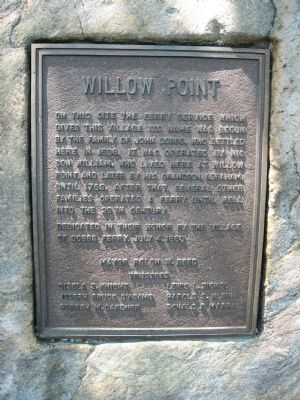 Willow Point Marker image. Click for full size.