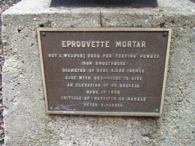 Eprouvette Mortar Marker image. Click for full size.