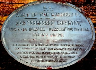 38th Tennessee Infantry Marker image. Click for full size.