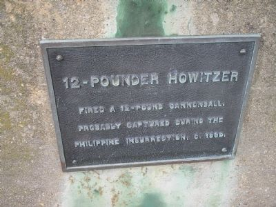 12-Pounder Howitzer Marker image. Click for full size.