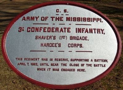 3rd Confederate Infantry Marker image. Click for full size.
