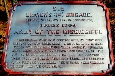 Shaver's Brigade Marker image. Click for full size.