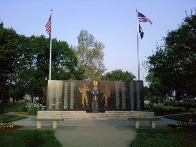 State of Kansas Vietnam Veterans Memorial image. Click for full size.
