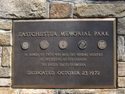 Eastchester Memorial Park Marker image. Click for full size.