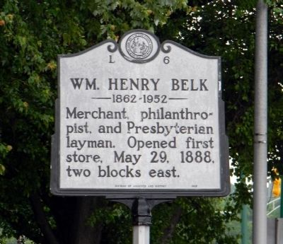 Wm. Henry Belk Marker image. Click for full size.