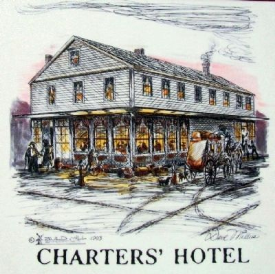 Charters Hotel on Where Did Lincoln Stay? Marker image. Click for full size.