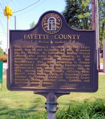 Fayette County Marker image. Click for full size.