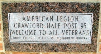 American Legion Post No. 95 Welcome image. Click for full size.