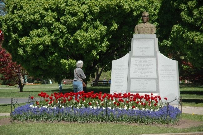 The Battle of Henry Johnson Marker in Washington Park Photo, Click for full size