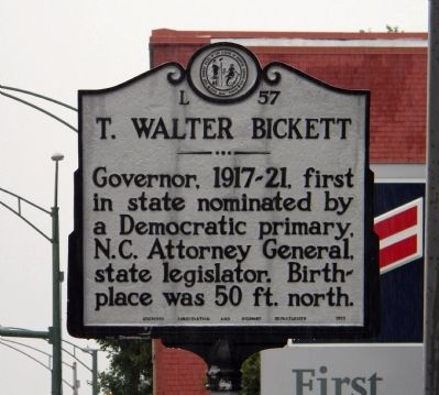 T. Walter Bickett Marker image. Click for full size.