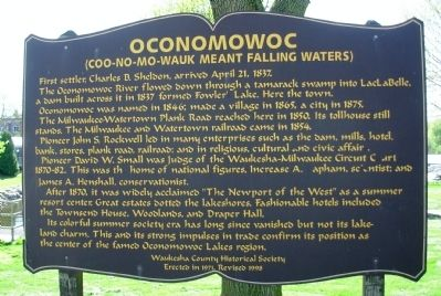 Oconomowoc Marker Photo, Click for full size