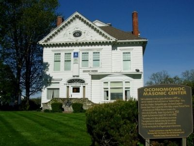 Oconomowoc Masonic Center Marker Photo, Click for full size