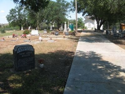 Saint Louis Mission Marker and Cemetery image. Click for full size.
