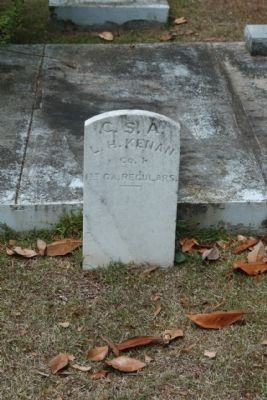 Memory Hill Cemetery, Lewis Holmes Kenan (Co. I., 1st GA Reg.) image. Click for full size.