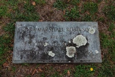 Anna Marshall Tombstone<br>Due West A.R.P. Church Cemetery Photo, Click for full size