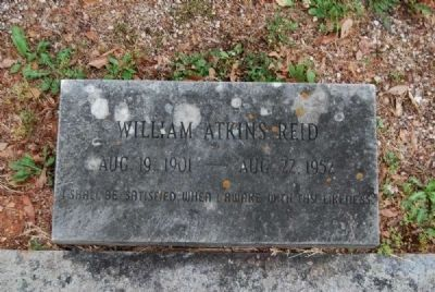 William Atkins Reid Tombstone<br>Due West A.R.P. Church Cemetery Photo, Click for full size